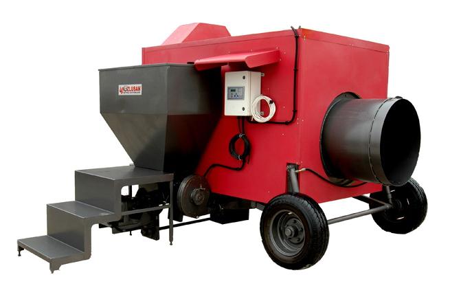 Передвижные пеллетные теплогенераторы горячего воздуха KOZLUSAN PEL-C Series 100-800 кВт