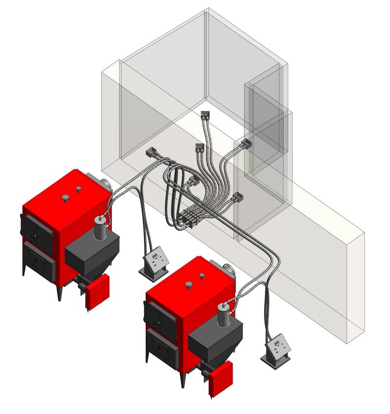 Система пневматической подачи пеллет в котлы KOZLUSAN PEL
