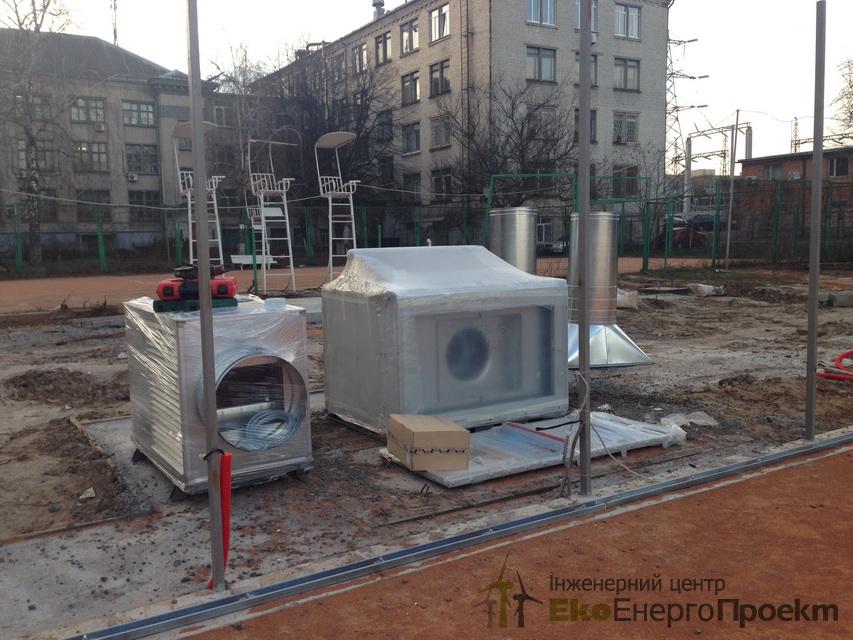 Підготовка майданчиків для теплогенератора на пелетах 407 кВт - РеференціЇ | ЕкоЕнергоПроект