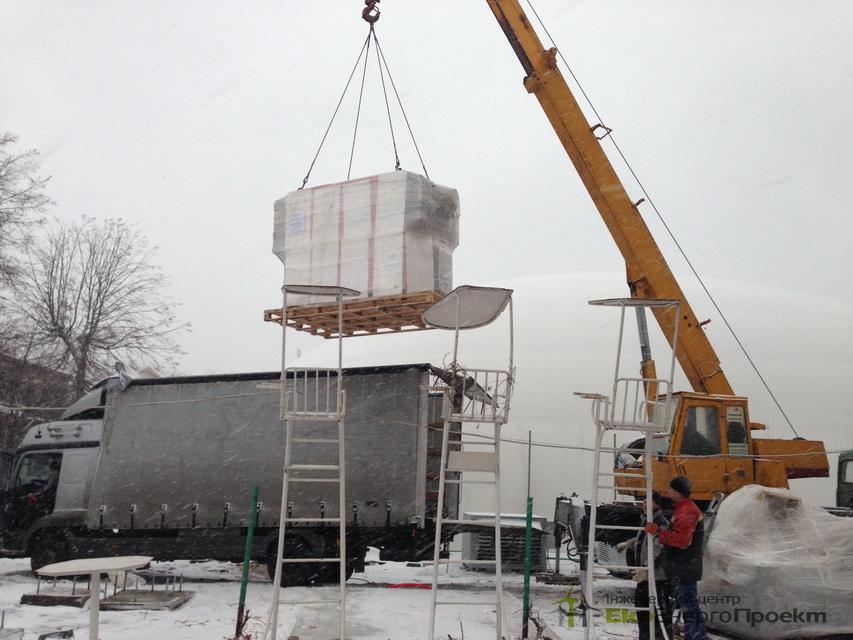 Монтаж теплогенератора на пелетах 407 кВт - РеференціЇ | ЕкоЕнергоПроект
